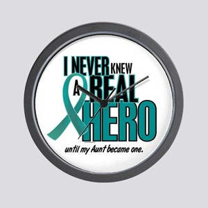 Never Knew A Hero 2 Teal (Aunt) Wall Clock
