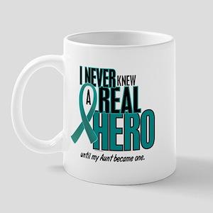 Never Knew A Hero 2 Teal (Aunt) Mug