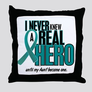 Never Knew A Hero 2 Teal (Aunt) Throw Pillow