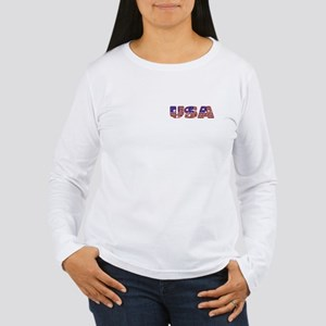 USA Women's Long Sleeve T-Shirt