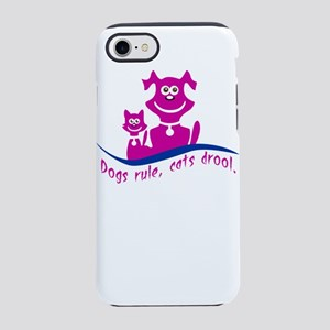 dogs rule, cats drool iPhone 8/7 Tough Case