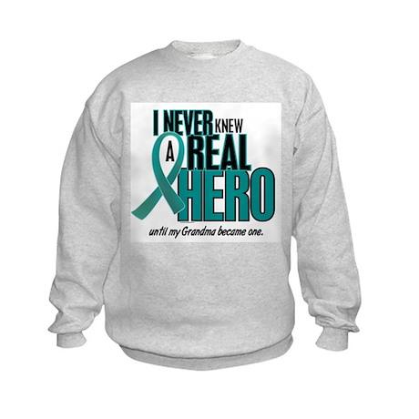 Never Knew A Hero 2 Teal (Grandma) Kids Sweatshirt