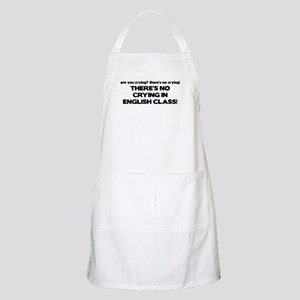 There's No Crying English Class BBQ Apron