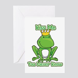 You Never Know Frog Greeting Card