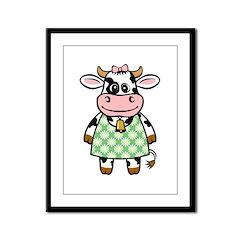 Dressed Up Cow Framed Panel Print