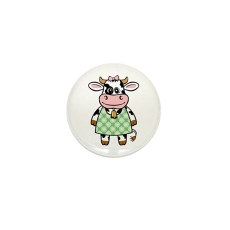 Dressed Up Cow Mini Button (10 pack)