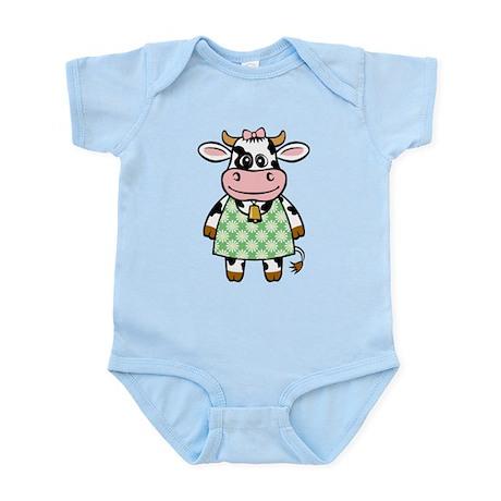 Dressed Up Cow Infant Bodysuit