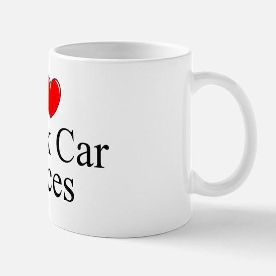 """I Love (Heart) Stock Car Races"" Mug"