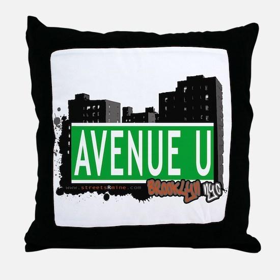 AVENUE U, BROOKLYN, NYC Throw Pillow