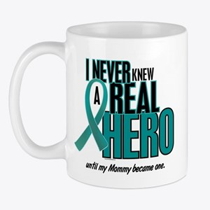Never Knew A Hero 2 Teal (Mommy) Mug