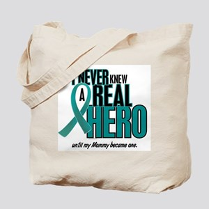 Never Knew A Hero 2 Teal (Mommy) Tote Bag
