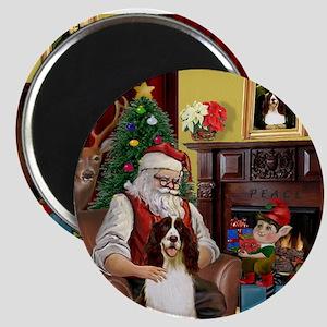 Santa & His Springer Magnet