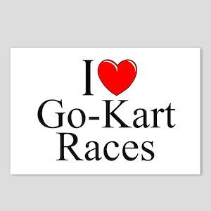 """I Love (Heart) Go-Kart Races"" Postcards (Package"