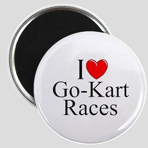 """""""I Love (Heart) Go-Kart Races"""" Magnet"""