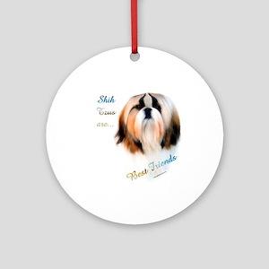 Shih Tzu Best Friend 1 Ornament (Round)