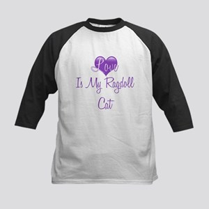 Love is My Ragdoll Cat Kids Baseball Jersey
