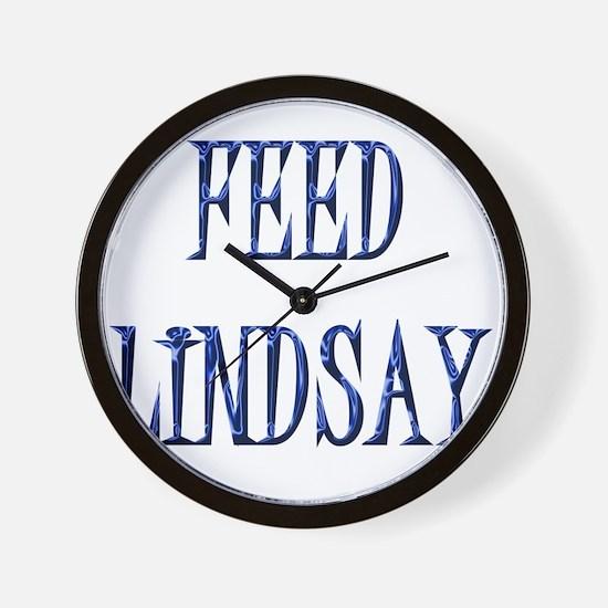 Feed Lindsay 4 Wall Clock