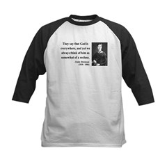 Emily Dickinson 16 Kids Baseball Jersey