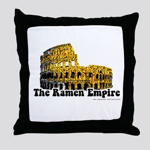 The Ramen Empire Throw Pillow