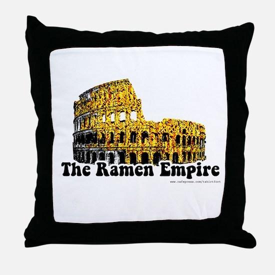 The Ramen Empire Throw Pillow