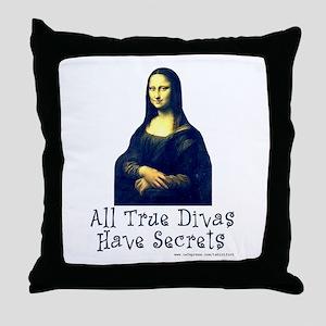 Mona's Secrets Throw Pillow