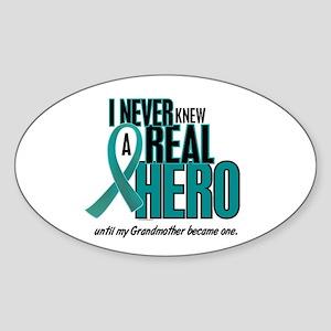 Never Knew A Hero 2 Teal (Grandmother) Sticker (Ov