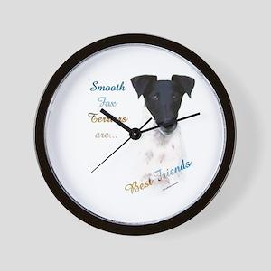 Smooth Fox Best Friend 1 Wall Clock