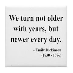 Emily Dickinson 15 Tile Coaster