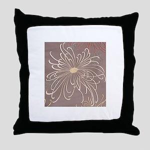 Delicate Daisy Throw Pillow
