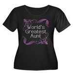 World's Greatest Aunt Women's Plus Size Scoop Neck