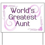 World's Greatest Aunt Yard Sign