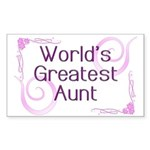 World's Greatest Aunt Rectangle Sticker 50 pk)