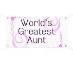 World's Greatest Aunt Banner