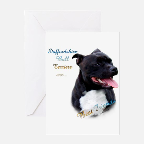 Staffy Best Friend 1 Greeting Card