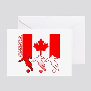 Canada Soccer Greeting Cards (Pk of 10)