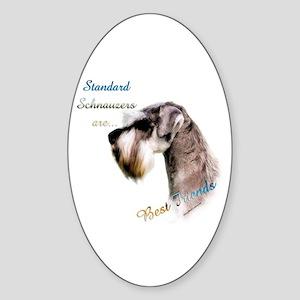 Std. Schnauzer Best Friend 1 Oval Sticker