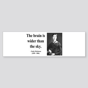 Emily Dickinson 14 Bumper Sticker