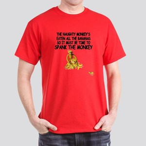 Funny rude Monkey Dark T-Shirt
