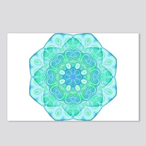 Blue-Green Mandala: Love & Ex Postcards (Package o