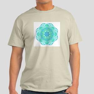 Blue-Green Mandala: Love & Ex Light T-Shirt