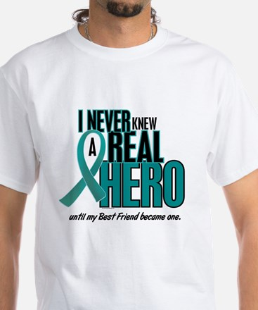 Never Knew A Hero 2 Teal (Girlfriend) White T-Shir