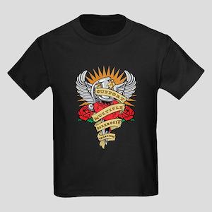 MS Heart & Dagger Kids Dark T-Shirt