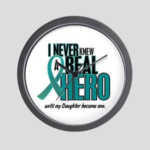 Never Knew A Hero 2 Teal (Daughter) Wall Clock