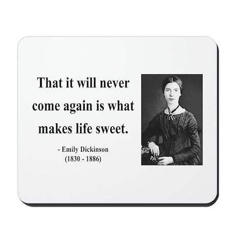 Emily Dickinson 12 Mousepad