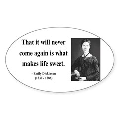 Emily Dickinson 12 Oval Decal