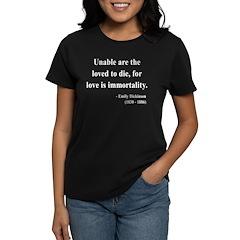 Emily Dickinson 11 Women's Dark T-Shirt