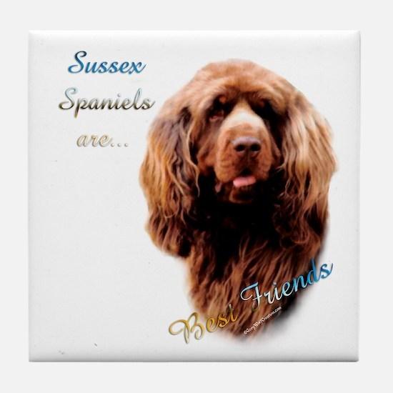 Sussex Best Friend 1 Tile Coaster