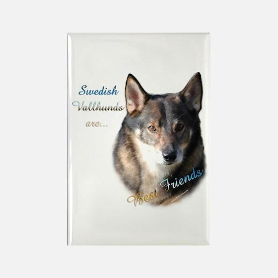 Vallhund Best Friend 1 Rectangle Magnet (10 pack)