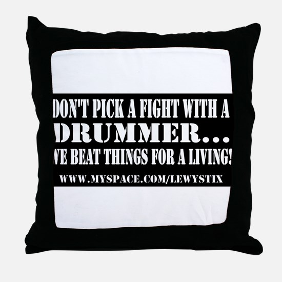Lewy Stix Throw Pillow