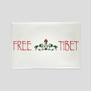 Free Tibet Rectangle Magnet